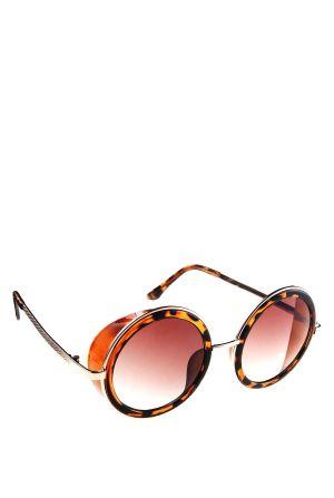 משקפי שמש עגולות עם תריס צדי