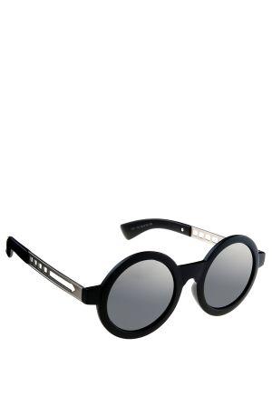 משקפי שמש עגולות עם כנף מתכתי