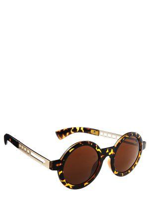 משקפי שמש עגולים עם כנף מתכתי